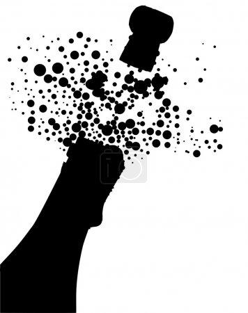Champagne Bottle Silhouette