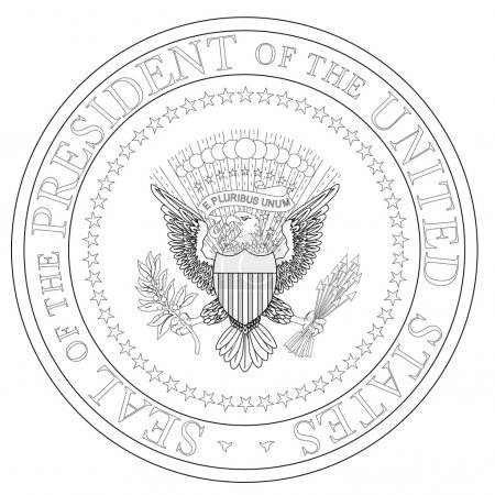 A depiction of the seal of the president of the Un...