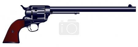 Long Barrel Six Gun