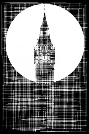 Big Ben Grunge Background
