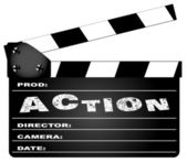 Action Movie Clapperboard
