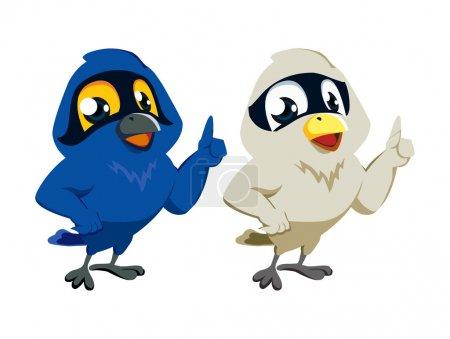 Starlings Cartoon
