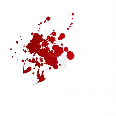 Illustration for Messy red stains of blood or wine. - Royalty Free Image