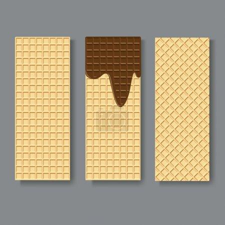 Illustration pour Textures gaufrettes. Illustration vectorielle - image libre de droit
