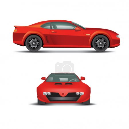 Illustration for Red sports car. Non branded. Vector illustration - Royalty Free Image