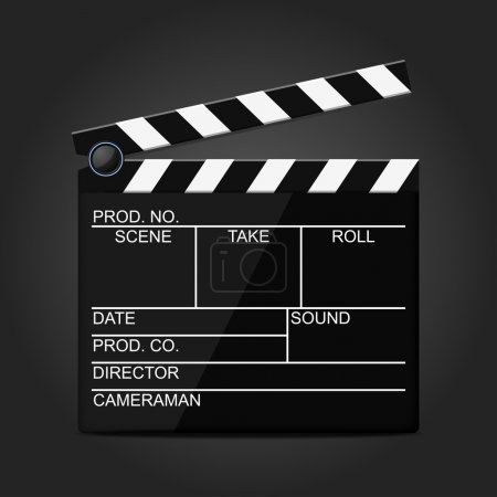Black director clapperboard icon
