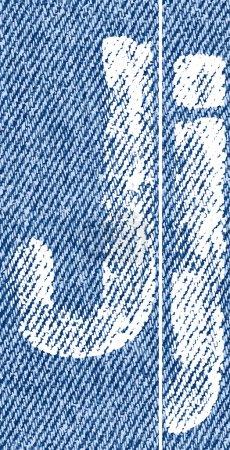 Vector letters and numbers on denim J