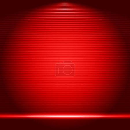 Illuminated stage podium vector illustration