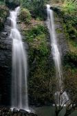 Deep forest waterfall at National Park Si-satchanalai Thailand