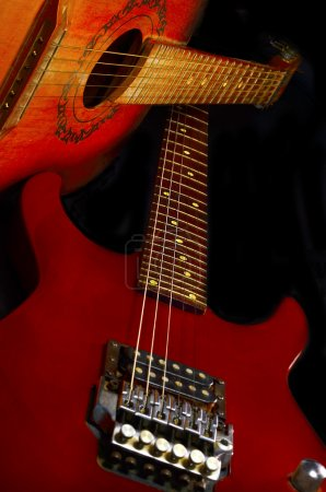 Photo for Acoustic and electric guitars - Royalty Free Image