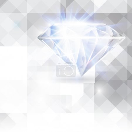 Diamond vector background