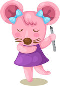 Mouse playing flute