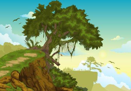 Illustration pour Beau paysage Illustration de fond - image libre de droit