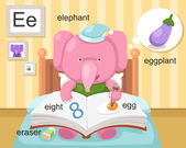 AlphabetE letter