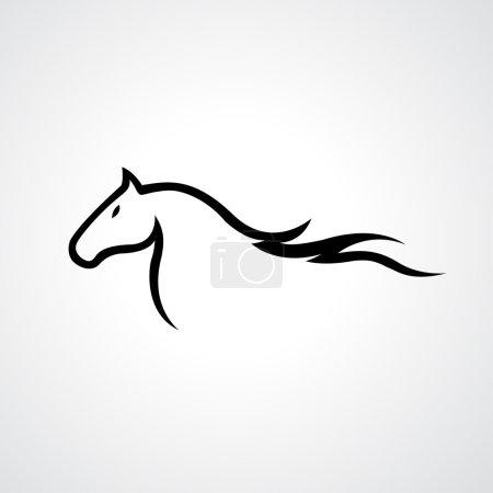 Horse icon illustration...