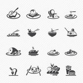 Food Icons isolated on background