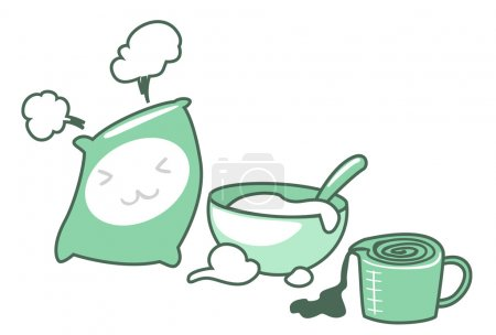 Baking icons set illustration of isolated on white...