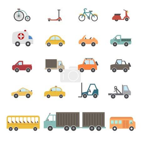 Illustration for Transportation icon set illustration - Royalty Free Image