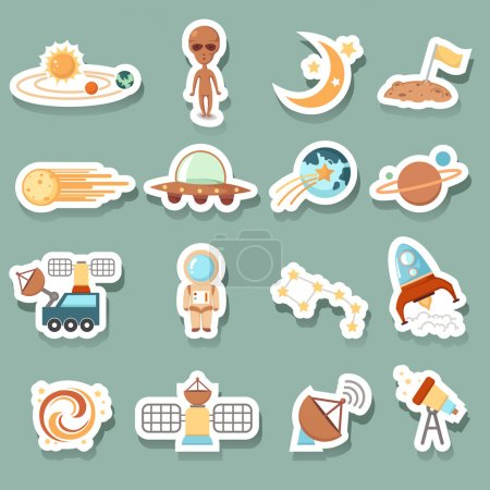 Illustration for Space icons - Royalty Free Image