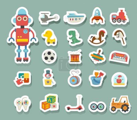 Illustration pour Jouets icônes vecteur - image libre de droit