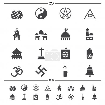 religion icons.vector eps10