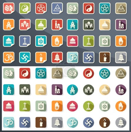 religion icons vector eps10