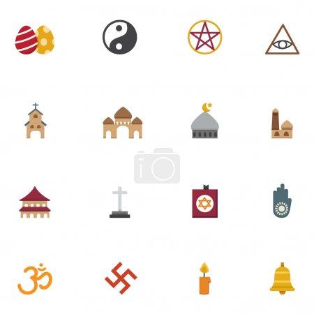 religion icons vector eps10