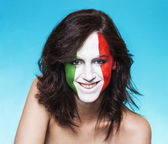 Italian supporter for FIFA 2014 smiling