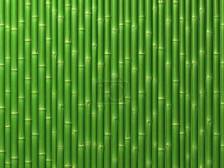 Photo for Very high resolution 3d rendering of a bamboo wall - Royalty Free Image