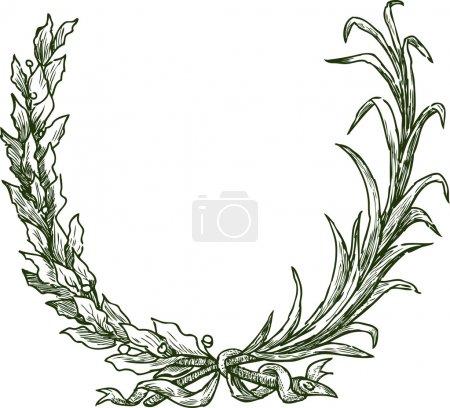 Illustration pour Branches cérémonielles. Illustration vectorielle - image libre de droit
