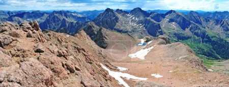 Summit View Overlooking Chicago Basin, San Juan Range, Rocky Mountains, Colorado, USA