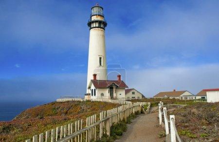 Lighthouse on the Big Sur Coast, California, USA