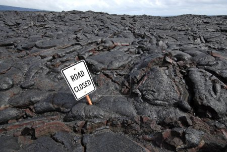 Lava Flow Closes Road