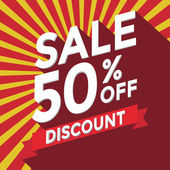 Verkauf 50 Prozent Rabatt-Vektor