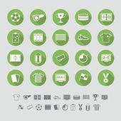 Soccer icons set flat design. Illustration eps10