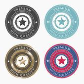 Premium labels vector
