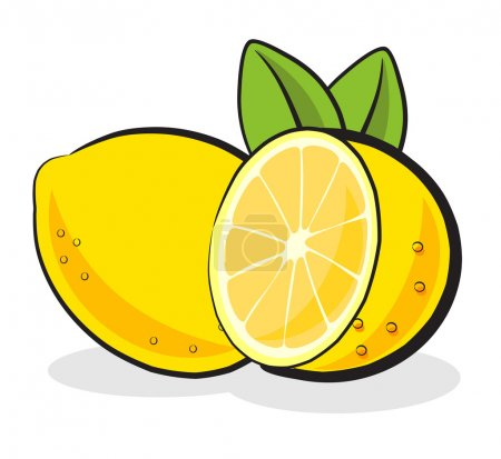 Illustration for Lemon fruit illustration isolated on white background - Royalty Free Image