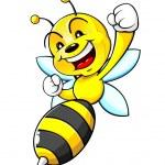 Bumblebee Mascot isolated on white background...