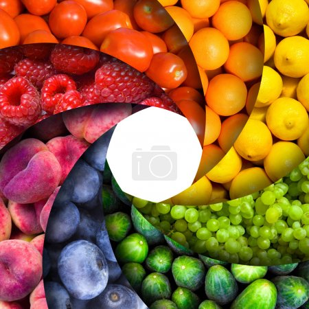 Photo for Fruit backgrounds as an aperture shutter - healthy eating concept - Royalty Free Image