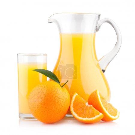 Photo for Orange juice with oranges - Royalty Free Image