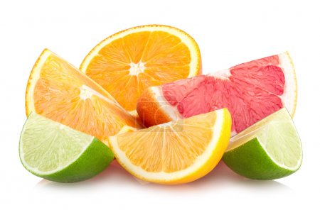 Photo pour Tranches de citron colorés - image libre de droit