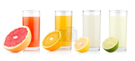 Photo for Fresh citrus juices with fruits - Royalty Free Image