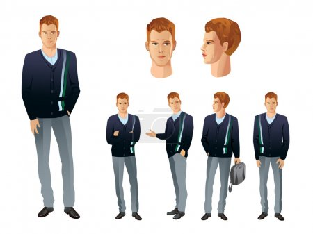 Illustration for E-Learning characters - Royalty Free Image