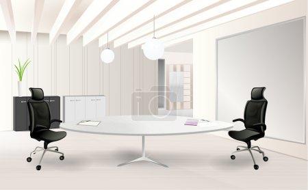 Illustration for Modern office room vector ilustration - Royalty Free Image