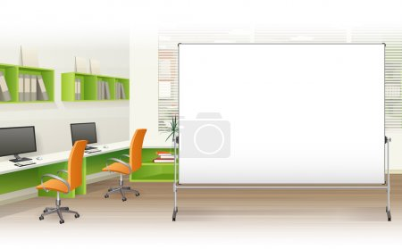 Illustration for Office interior background - Royalty Free Image