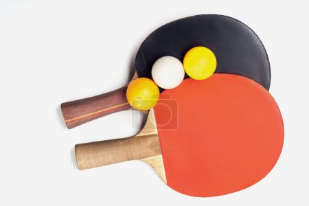 Two rackets for playing table tennis