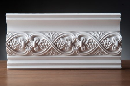 Beautiful elements of luxury wall design, white st...