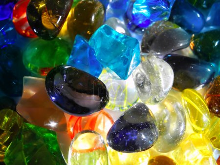 Photo for Colorful decorative stones in close up background - Royalty Free Image
