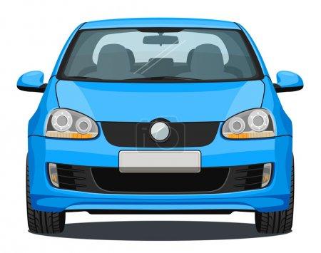 Car - Front view - Blue