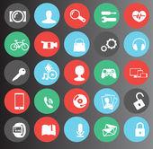 Web media flat icons set 25